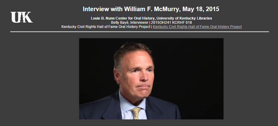 KY Civil Rights Hall of Fame Induction: McMurry Interview